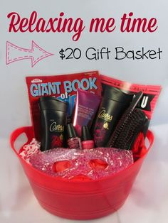 DIY $20 homemade spa themed gift basket - perfect gift basket idea for mothers day, an anniversary gift, new mom gift or just for her birthday because ALL moms want alone time to relax!