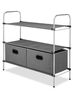 Small spaces mean a lack of storage for your clothing or linens. This  tiered shelving a9c03b32bfdc