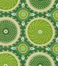 Waverly Home Decor Print Fabric-Waverly Bohemian Swirl Jade