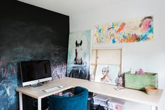 The art studio and office.