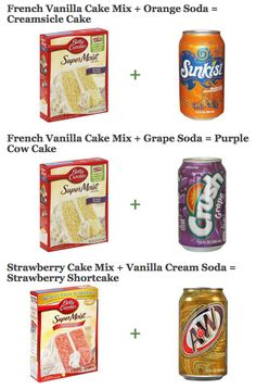 Check out all the cakes you can make with just one box of cake mix and a bottle of soda!