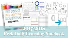 2017-2018 Preschool Daily Learning Notebook - Confessions of a Homeschooler