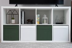 TIME to get in the CHRISTMASMOOD with our Juniper Green Uni COVERS for Ikea Drona boxes!!! Kallax Shelf Unit, Ikea Shelves, Ikea Kallax White, Uni Bedroom, Behind Couch, Paint Matching, Vibrant Colors, Colours, Covered Boxes