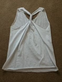 how to cut a tshirt into a racerback tank top