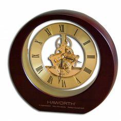 Dacasso Birchwood and Metal Eclipse Clock - C1007