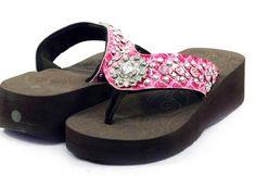 Montana West Fleur De Lis Flip Flops - Hot Pink!  Only $44.00