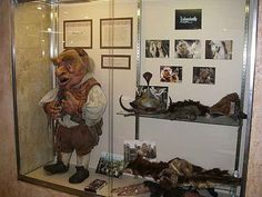 The Hoggle puppet from the Labyrinth was last in transit and is now on display at the Unclaimed Baggage Center in Alabama