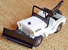 *VINTAGE 1960's PRESSED STEEL TONKA AA JEEP WRECKER TRUCK/TOW TRUCK W/PLOW-VG.!* | eBay