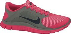 Nike Free 4.0 - for women - red/grey Running shoes HOT SALE! HOT PRICE!