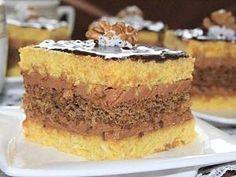 Ciasto kokosowo-orzechowe z masą truflową