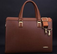 Exclusive Mens Business Casual Messenger Brown Bag, New