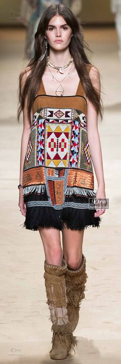 Garment Interpretation #5: Etro Spring 2015 - RTW Collection. Mixes of textures, layers and colors.