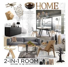 """""""2-in1 room"""" by szaboesz ❤ liked on Polyvore featuring interior, interiors, interior design, home, home decor, interior decorating, Astek, Milton & King, Atelier and Benjamin Moore"""