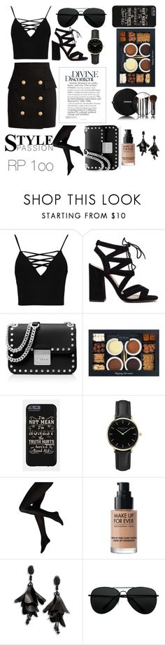 """""""My Sister Created This Lol 😂"""" by yoanaxoxo ❤ liked on Polyvore featuring Boohoo, MICHAEL Michael Kors, Chanel, ROSEFIELD, MAKE UP FOR EVER, Oscar de la Renta and Balmain"""