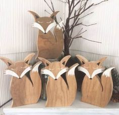 Wood Toys This listing is for one hand-cut reclaimed wood fox with acrylic painted detail…. Christmas Wood, Christmas Crafts, Wood Projects, Woodworking Projects, Kids Woodworking, Woodworking Quotes, Best Wood Stain, Fox Crafts, Wood Mantle