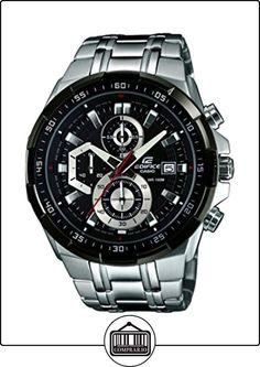 Casio  EFR-539D-1AVUEF - Reloj de cuarzo para hombre, con correa de acero inoxidable, color plateado de  ✿ Relojes para hombre - (Gama media/alta) ✿