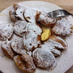 "A typical dutch treat: ""Poffertjes""."