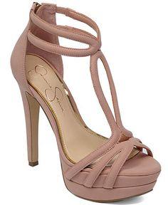 82d589e4267 Jessica Simpson Salvati T-Strap Platform Sandals Shoes - Sandals   Flip  Flops - Macy s