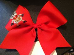 Red Reindeer Cheer Bow on Etsy, $12.00