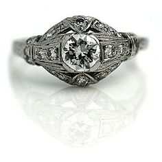 Vintage Engagement Ring Edwardian .78ctw Old by ArtDecoDiamonds
