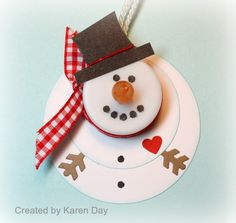 Snowman tea light ornaments.  Use foam sheets.  Melted snowman