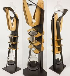 The Coffee Extract Tower is a sculptural, functional slow-drip coffee system that works overnight to create a concentrated coffee with an entirely different chemical profile than hot coffee that's perfect for throwing over ice!