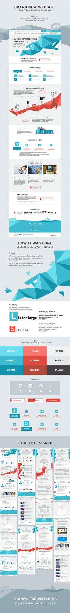 This site has nominated for the best design in the CSS Aword. It's a good corporate website, where the most important pages are made in the style of the landing. Some of the information submitted with graphics. It have the excellent modern design not accidently - our designers follow the world trends in this area. Both clients and we are very happy with the result.