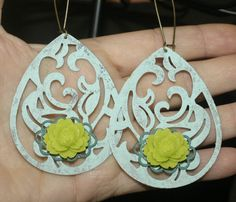 Large Filigree Teardrop Earrings by groovychickjewelry, $15.50
