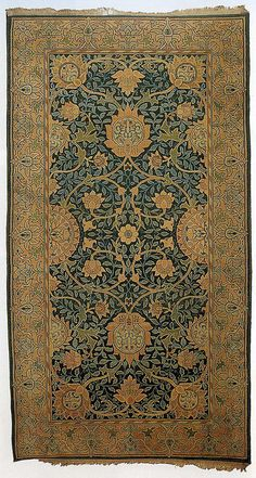Textile carpet produced by Morris & Co in 1883