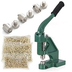 ARKSEN Hand Press Grommet Machine 1500 Brass 3 Die 0 2 4 Eyelet * Check out this great product. Wood Log Crafts, Wood Logs, Handbag Patterns, Press Kit, Diy Hair Bows, Hole Punch, Diy Tools, Diy Hairstyles, Leather
