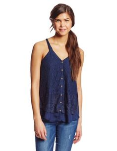 Jolt Women's Lace Top with Contrast Bottom (Click The Image To Buy It)
