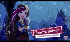 Daughter of the Big Bad Wolf Ramona Badwolf, Ever After High Rebels, Girls Characters, Disney Characters, Wolf Character, Evil Girl, Bad Wolf, Vintage Cartoon, Red Riding Hood