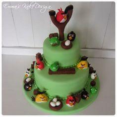 Emmas KakeDesign: Angry Bird pynt til flott bursdagskake