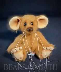 Nutmeg the Mousebear Black Glass, Teddy Bear, Bath, Artist, Animals, Bathing, Animales, Animaux, Artists
