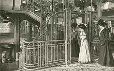 """archimaps: """" The elevator inside the Galeries Lafayette Department Store, Paris """" Paris Photography, Photography Projects, Amazing Photography, Old Paris, Vintage Paris, Paris Art, Lafayette Paris, Galeries Lafayette, Paris Opera House"""