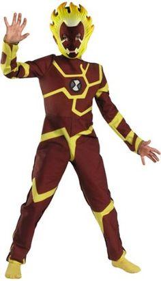 Heatblast Ben 10 Boy/'s Costume Kids Fancy Dress Outfit Cartoon TV Licensed
