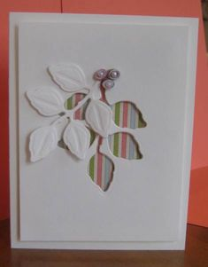 CAS leaf card by dacpam - Cards and Paper Crafts at Splitcoaststampers This gives me SO many ideas!