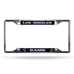 Los Angeles Rams License Plate Frame Chrome EZ View