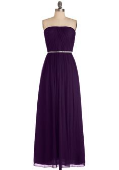 Local Muse Dress in Violet - Long, Formal, Prom, Wedding, Vintage Inspired, Purple, Solid, Maxi, Sheath / Shift, Strapless