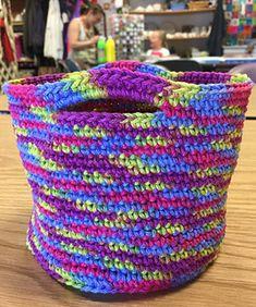 One Skein Basket - free crochet pattern by Diane L. Augustin.