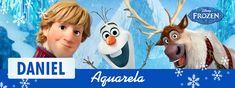 B-DAY Olívia Trabalho: adesivo para aquarela Ano: 2017 Inspiração: Disney Frozen