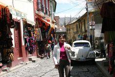 The streets of La Paz, Bolivia