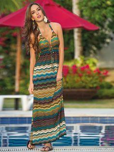 vestido de playa largo strapless - Buscar con Google
