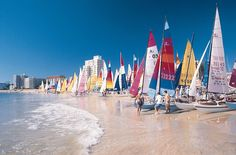 Sail away (or sit down and stay awhile) at Hobie Beach in Port Elizabeth, South Africa!