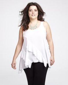 asymmetrical ruffle blouse Item: # 21542141 $24.99