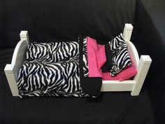 Zebra Black and White with Hot Pink turquoise lime green bedding only by Mayd4u, $25.00