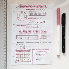 Escritos bonitos y organizados.