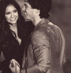 Adorable couple. Ian Somerhalder and Nina Dobrev