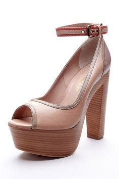 I would teeter too much to ever wear these, but how beautiful! Pour La Victoire Garcia Peep Toe Pump on HauteLook