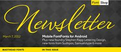 Email header design by FontShop for their e-newsletter.